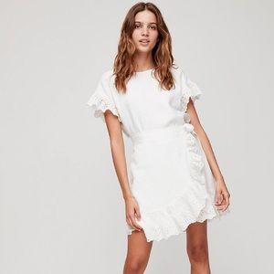 Wilfred Ninette faux wrap dress linen medium